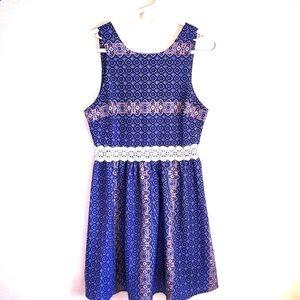 🔴 Anthropologie Everly Blue Dress Spring summer